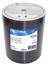 Falcon DVD-R 8X White Inkjet Hub Printable