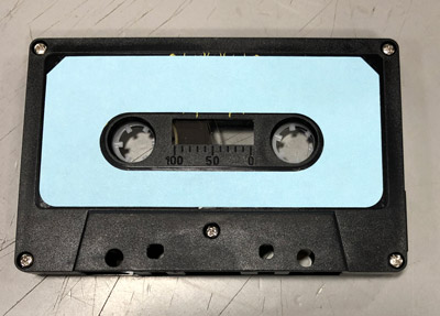 C-35 Black Music Grade Audio Cassette With Blue Labels - 52 pieces