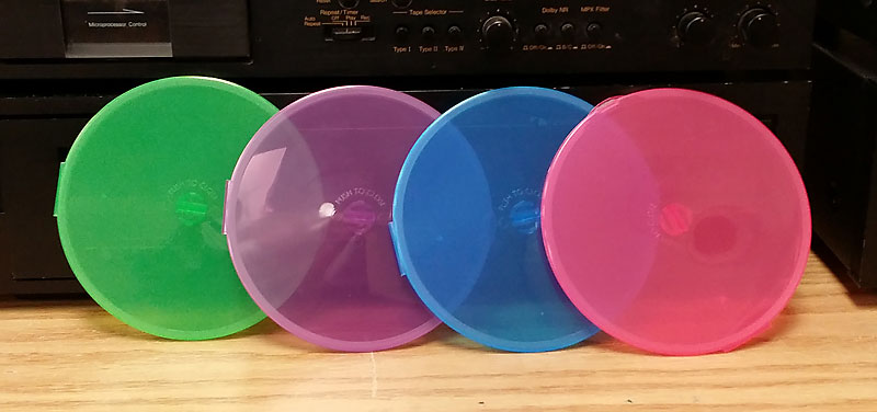 Slimpak CD/DVD Poly O-Shells in Lime Green, Purple, Blue and Pink 200pk