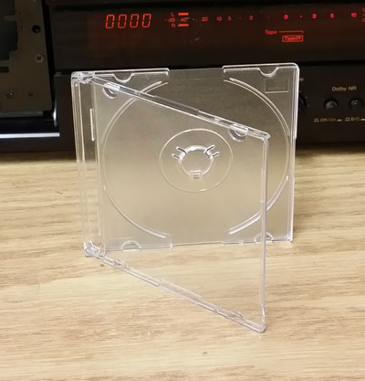 Mini Slimline Jewel Case for 80cm Mini CDs and DVDs