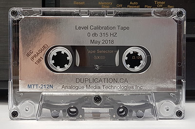 Audio Cassette Level Calibration Test Tape