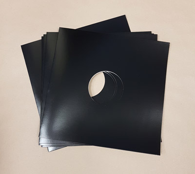 "Blank Black Jacket for Vinyl 12"" Records With Hole - 150pk"