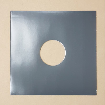 """Blank Grey Jacket for Vinyl 12"""" Records With Hole - 10pk"""