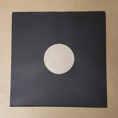 "12"" BLACK Polylined Inner Record Sleeves 100pk"