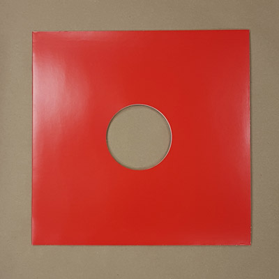 "Blank Red Jacket for Vinyl 12"" Records With Hole - 10pk"