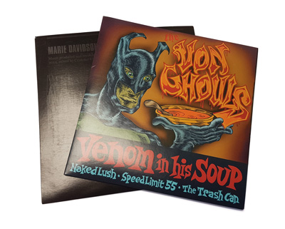 "Printed 7 Inch (7.25"") Vinyl Record Jackets - Pro Offset CMYK Print on White 15 Point Thick Cardboard"