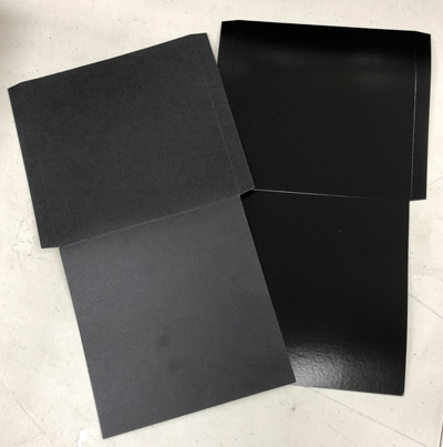 Black 7 Inch Record Jacket Flats, Reverse Board - 100 Pack
