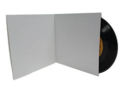 7 Inch White Gatefold Jacket