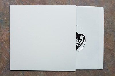 Matte White Cardboard 7.25 Inch Jackets for 7 Inch Records - 100 Pack