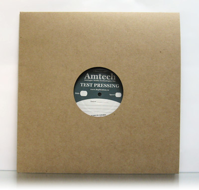 "18pt Recycled Chipboard Jacket with hole for 12"" Vinyl Records 100 pack"