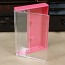 Clear/Rose Norelco Case for Audio Cassettes