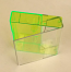 Clear/Fluo Green Norelco Case for Audio Cassettes