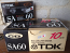 TDK SA-60 Type II Audio Cassette Tape Vintage Option 1