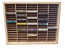Wood Storage Rack For 100 Audio Cassettes