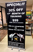 "Printed Retractable Vinyl Banner (33.5"" x 80"")"