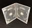 Pro Quality Super-Clear 15mm Double DVD Case Side By Side