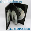 DVD 4 Disc Case 15mm with tray