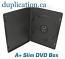 Black 7mm Slim DVD Case with Overlay