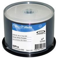 Falcon DVD-R 16X Smart White Universal Hub Printable