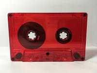 C-29:40 Normal Bias Red Transparent Cassettes 25 pack