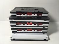C-12 Normal Bias Black & White Cassettes 20 Pack