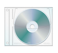 Expanded Jewelpak CD/DVD Page for Binders