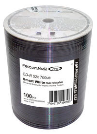 Falcon CD-R Smart White Universal Hub Printable #434 100pk