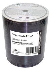 Falcon CD-R Smart White Universal Hub Printable #434 100pk