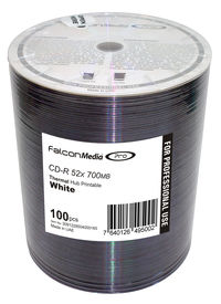 Falcon CD-R 52X White Thermal Hub Printable (Everest and Teac P55) #436