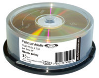Falcon Gold Archival DVD-R Hard Coat 8X Shiny 24K EP 4.7GB 25pk