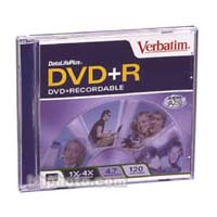 Verbatim DVD+R 4X 94472 1-pack in Jewel case