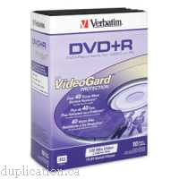 Verbatim 95104 Super Quality VideoGard DVD+R 4.7GB in Videotrim Cases 10PK