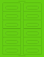 Fluorescent Green Audio Cassette Labels for Laser and Inkjet Printers - 12 Up, Square Bottom Corners