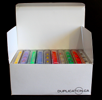 Printed 10-Pack Carton for Audio Cassettes for Storage or Retail Sales