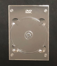Clear DVD Digi Tray With Logo - Clear - 2nd style - 200 pieces