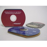 Business Card CD Replication (Pressing), Hockey Rink Shape