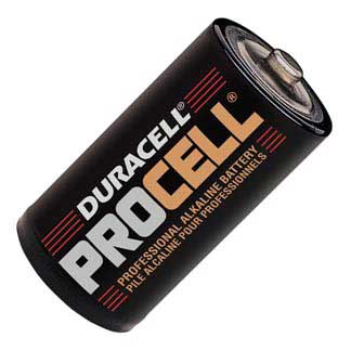 Duracell PROcell professional alkaline D battery MADE IN USA