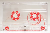 Blank Chrome Cassette Tapes of Your Chosen Length TABS IN, Transparent