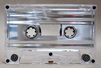 Silver Metallic Foil Audio cassette C-0 Normal Tab-In