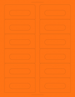 Fluorescent Orange Audio Cassette Labels for Laser and Inkjet Printers - 12 Up, Square Bottom Corners