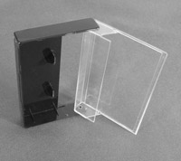 Liquidation: B-Grade BLACK AND Clear Cassette Box, 100 Pieces