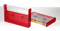 Clear/Red Tinted Norelco Case for Audio Cassettes