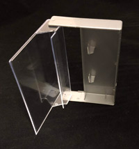 Silver and Clear Cassette Box