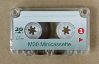 30 Minute Minicassette for Dictation Machines