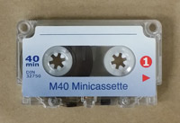 40 Minute Minicassette for Dictation Machines