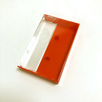 Clear/Red Norelco Case With Square Corners for Audio Cassettes