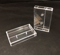 Clear Cassette Boxes With Straight Blades