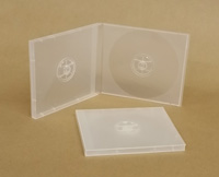 Deluxe 2-CD Clear Translucent Poly Jewel Box