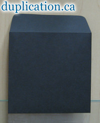 Black paper sleeve without window, with flap