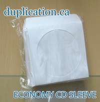 Economy Paper Sleeves for CD 100 pieces